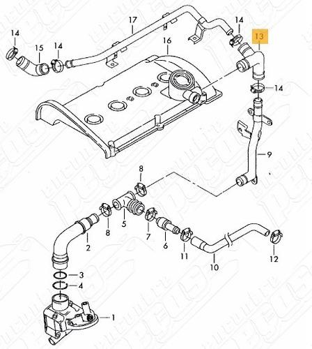 Tubo Flexvel Respiro Crter Motor Audi A4 1 8 Turbo 01 02