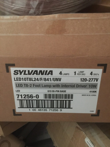 tubo led 10 watts t-8 4100 grados marca sylvania