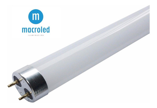 tubo led 18w vidrio = 36w 120cm luz fria 6000k macroled