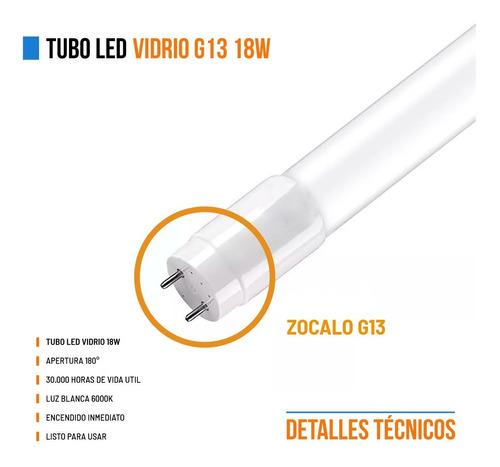 tubo led 220v 18w = 36w directo 120cm t8 oferta iluminacion