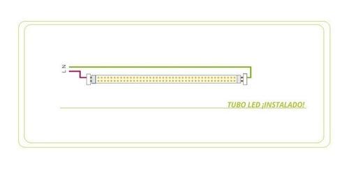tubo led 220v 18w + liston 120cm combo completo listo gtia