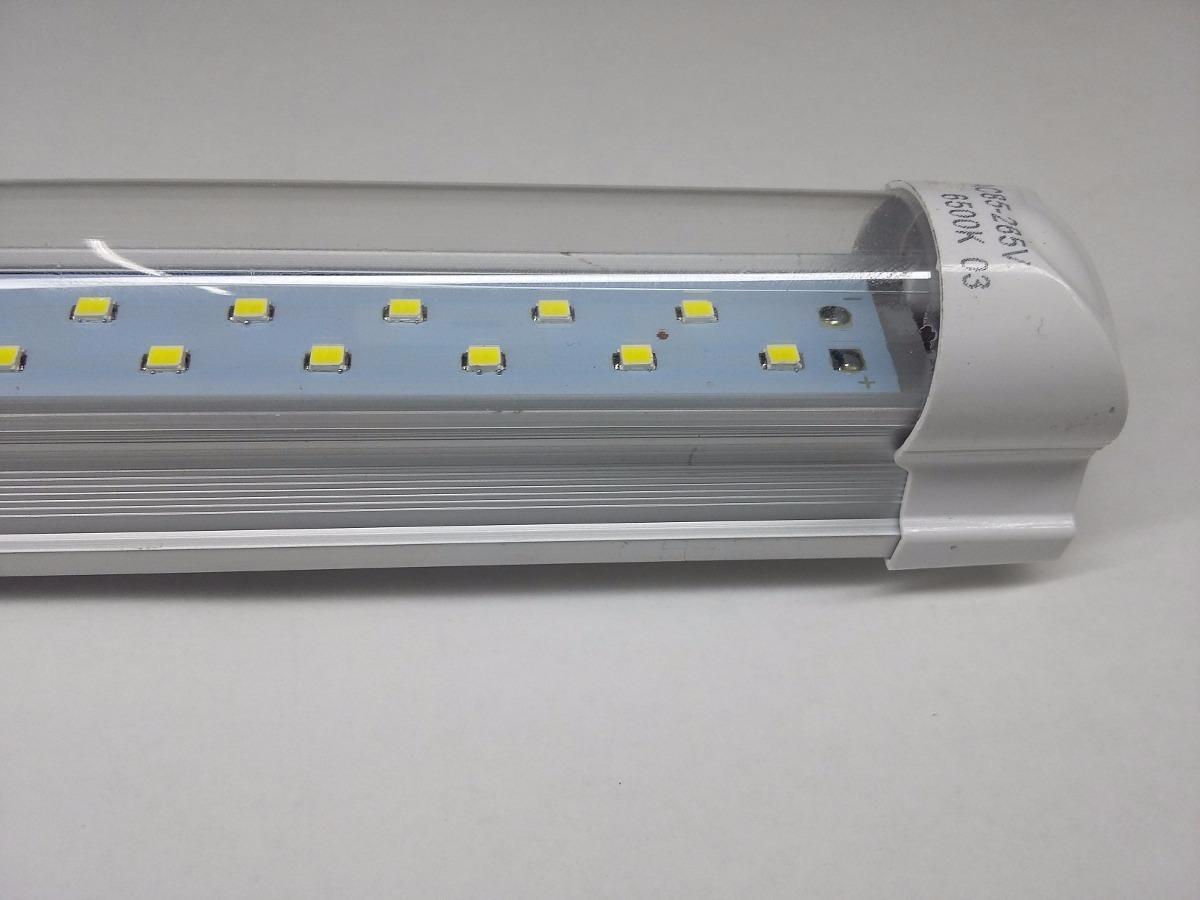 Tubo led 24w con canaleta mt doble linea led 2400 lm - Lamparas de tubo led ...