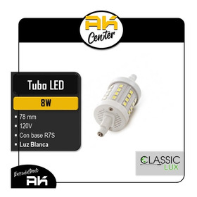 Tubo Led 8w / 120v / 78mm / Con Base R7s