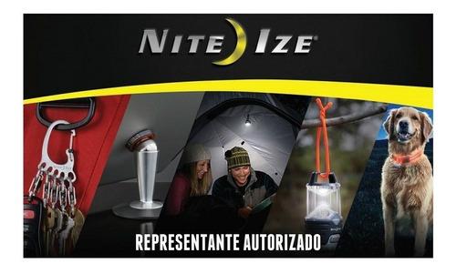 tubo led mini mosqueton blanco glowstick nite ize
