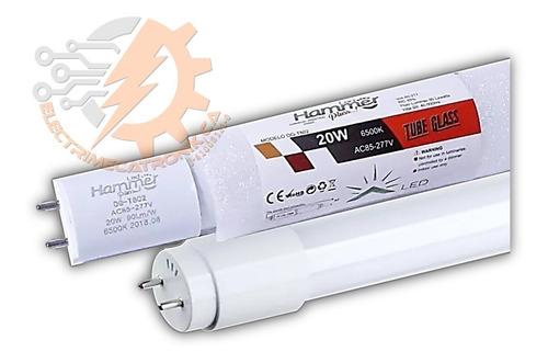 tubo led t8 20w 120 cm hammer luz blanca