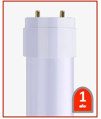 tubo led ultra t8 vidrio 1.2m opalino 18w blanco frio ahorra