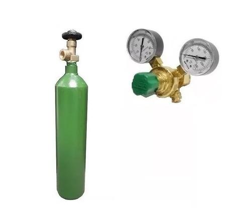 túbo nitrógeno 1 metro cubico + válvula reguladora de alta para equipos de 410  en 6 cuotas sin interes