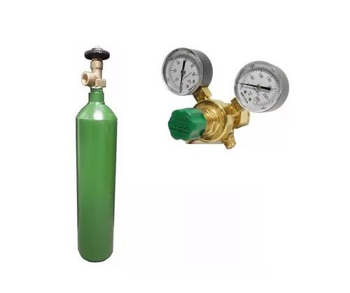 tubo nitrogeno 1 mt3 + regulador alta para r410 marca liga para presurizar refrigeracion