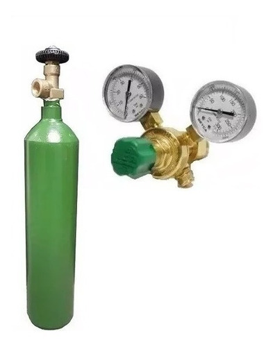 tubo nitrogeno 1/2 metro cubico + regulador alta para r410 + bomba vacio dosivac de 130 lts kit refrigeracion