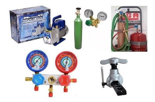tubo nitrogeno 1/2 metro cubico + regulador de alta para r410 refrigeracion oferta envio gratis