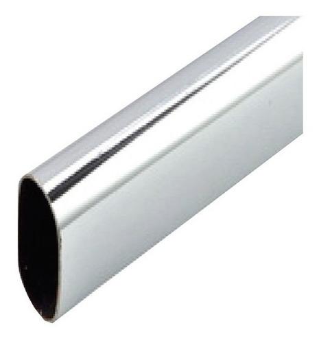 tubo para closet ovalado cromado herrajes 3 mts