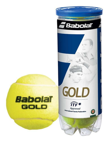 tubo pelotas babolat gold - tenis padel  - alta performance
