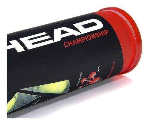 tubo pelotas tenis head championship x 3 cemento ladrillo
