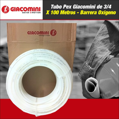 tubo pex giacomini de 3/4 rollo x 100 mts - barrera oxígeno