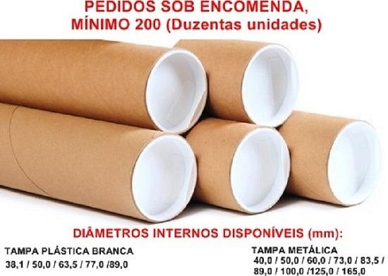 61f7a106c Tubo Postal De Papelão Tubete Canudo 80cm X 6