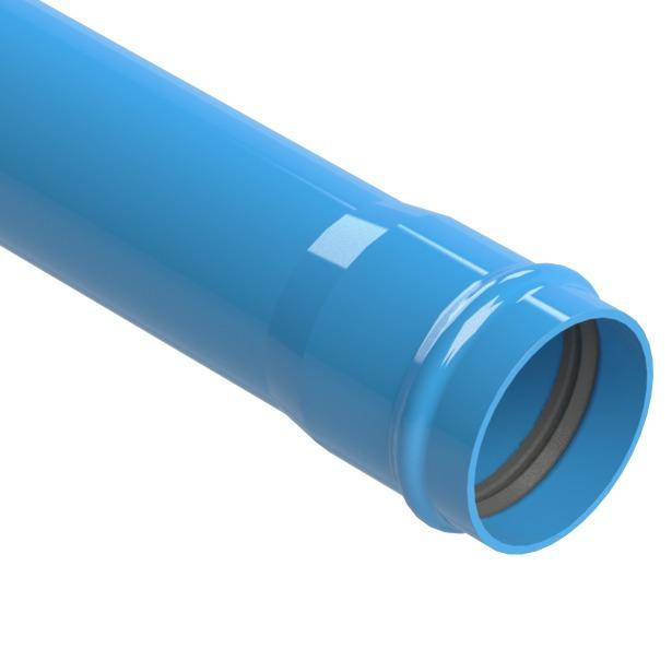 Tubo pvc irriga o defofo azul dn 150mm pn60 cano jei r - Tubos cuadrados de pvc ...