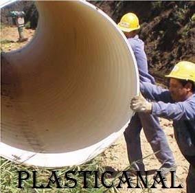 tubo pvc perfilado desagues pluviales, alcantarilla, drenaje