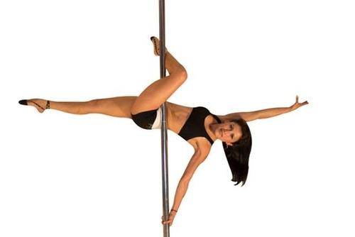 tubo quita - pon para pole dance giratorio con tapete gratis