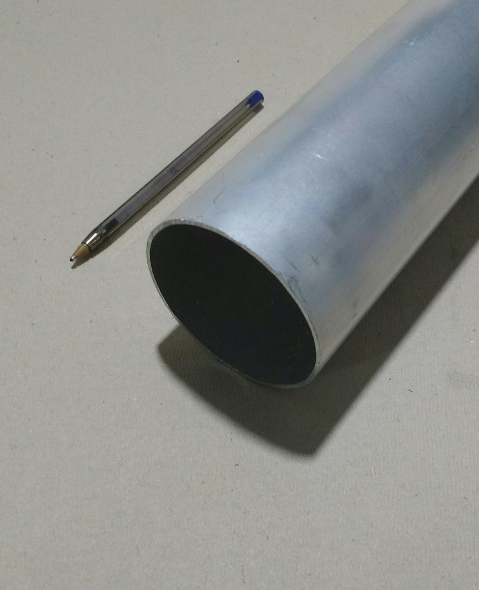 Tubo redondo aluminio 2 1 2 x 1 16 6 35cm x 1 58mm c - Tubo de aluminio ...