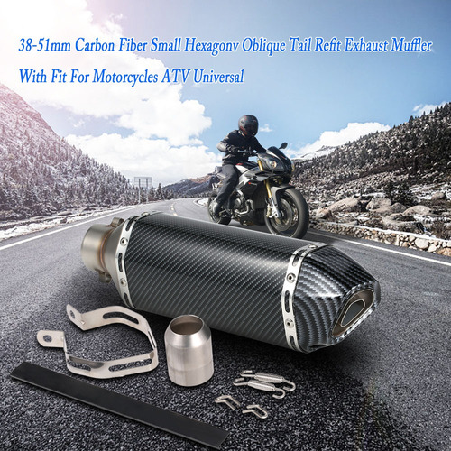 tubo silenciador escape 38-51mm para motocicleta