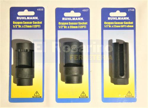 tubo ventana 27 mm para inyectores encastre 1/2 ruhlmann