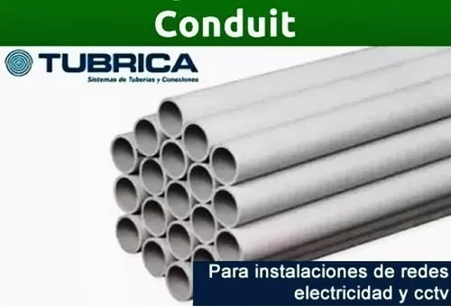 tubos de electricidad 3/4  tubrica plastico