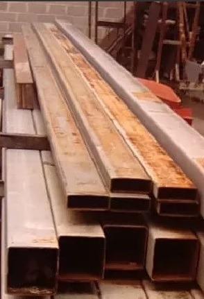 tubos estructurales de 200 x 200 en 12 mts