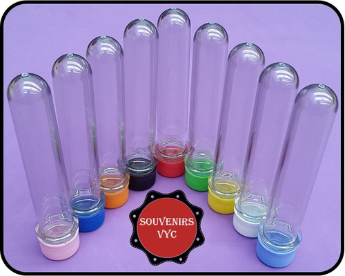 tubos golosineros 15.5cm tubos de ensayo souvenirs x100 uni.