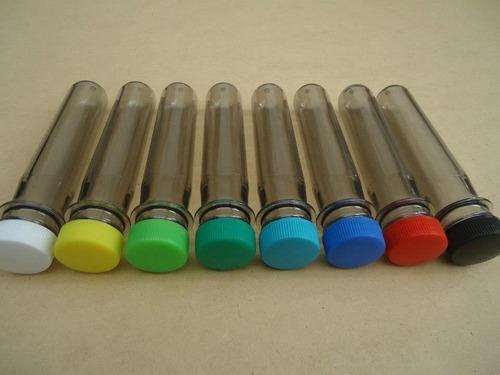 tubos plasticos t/p varios colores 100 x $