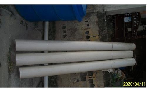 tubos pvc 8  3mm espesor buen estado super oferta 25vrds c/u
