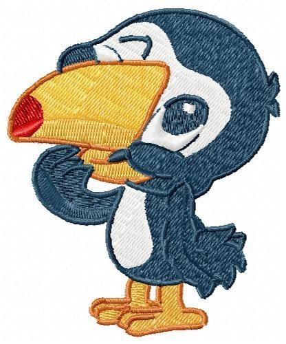 tucano baby - coleção de matriz de bordado