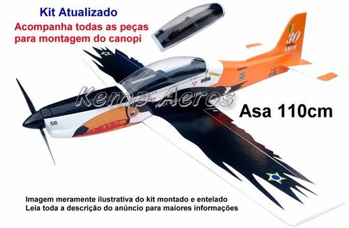 tucano t-27 30 anos kit para montar aeromodelo - kemp aeros