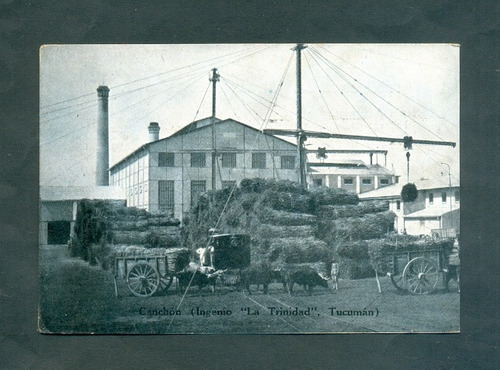 tucuman . antigua tarjeta ingenio la trinidad .