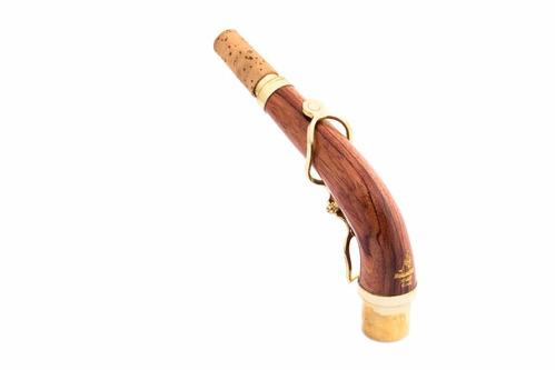 tudel para sax alto de madeira e fibra de carbono paraschos