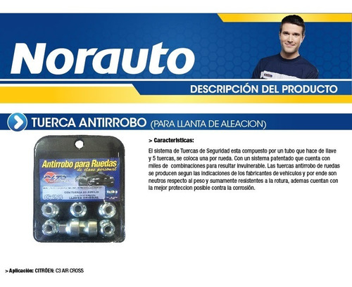 tuerca antirobo c3 air cross