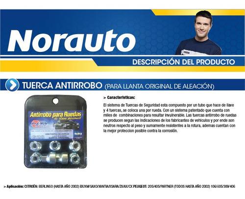 tuerca antirrobo c3/4/5-ds-206/7-306/7-3008