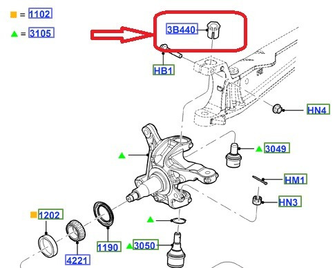 tuerca suplemento graduacion tren delantero f350 super duty