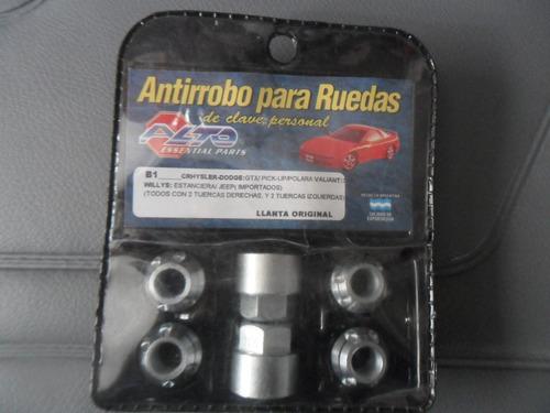 tuercas antirrobo dodge gtx  llanta de chapa original