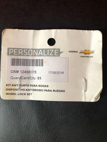 tuercas de seguridad chevrolet original gm onix 12498078