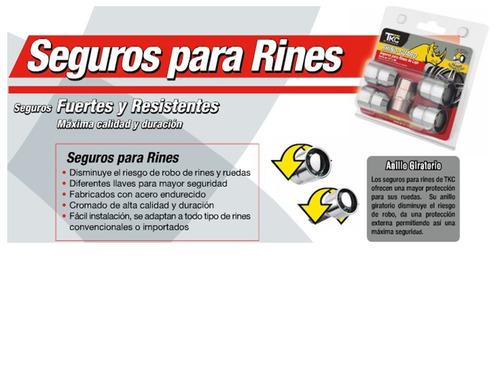 tuercas de seguridad rines 1/2  x 20h chrysler /jeep / jeep
