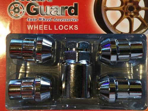 tuercas llantas auto seguridad 12mmx1.25 juego .x4 t6