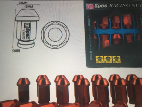 tuercas tuning  m12x1.5x20