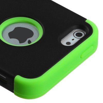 tuff doble capa híbrida caucho pc duro caso para iphone de a