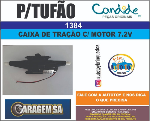 tufão 1384 - garagem sa - candide - caixa de tração 7.2v