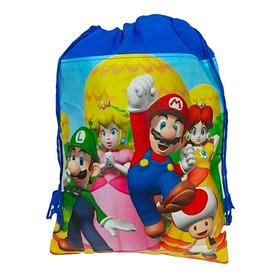 Tula Mario Bros Bolso Sorpresa Bolsa Recordatorio Piñata