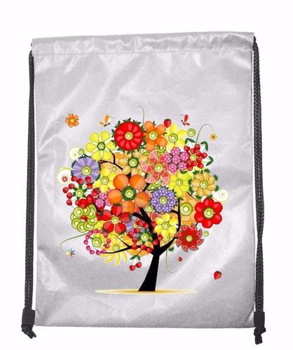 tula personalizada mandala arbol flores #3 medida 40x30 cms