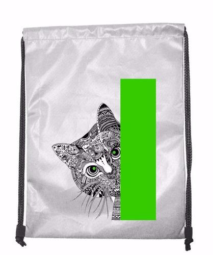 tula personalizada mandala gato #10 medida 40x30 cms