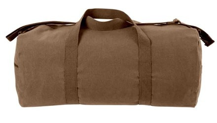 tula rothco heavyweight canvas shoulder duffle bag cafe