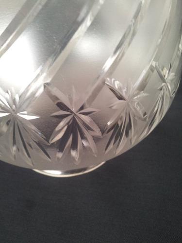 tulipa de cristal francés talla diamante