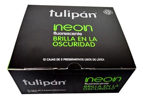tulipán preservativos neon 12 cajitas x 3